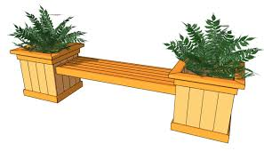 Free Diy Shed Building Plans by Plans For A Bench Planter Bench Plans Free Outdoor Plans Diy