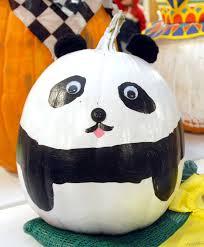 panda bear decorated pumpkin at the big e decorated pumpkins