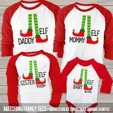 christmas raglan shirt set family elf christmas raglan gift set