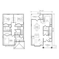 narrow house plans with garage myrtle iii floor plan tightlines designs