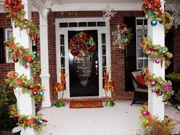 modern front porch christmas decorations home design ideas