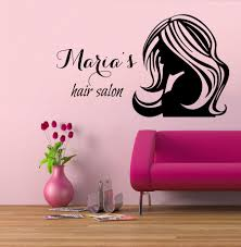 wall vinyl decal sticker custom logo barber shop hair salon