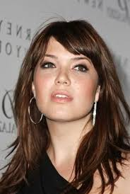 short hairstyles with center part and bangs 56 fabulous hairstyles for women with round face shape