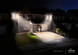 backyard european style home with cross lighting for double