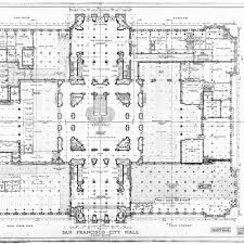 calisphere main floor plan san francisco city hall drawing no 8