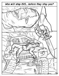 comic books anti isis coloring book comic culture evil