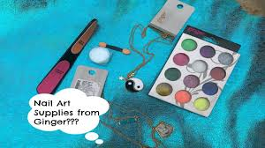nail art supplies from ginger lifestyle haul accesories