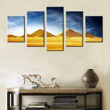 aliexpress com buy 5 pieces home decor oil painting egyptian aliexpress com buy 5 pieces home decor oil painting egyptian pyramids hd print on canvas wall art picture for living room no frame custom wholesale from