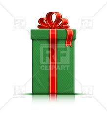 gift box with ribbon green gift box with ribbon and bow royalty free vector clip