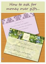 money registry wedding asking for gifts on wedding invitations 14 best wedding gift poems
