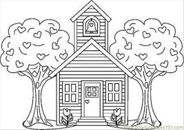 Coloring Page Of A School Color Page School House2 Coloring Page Free School Coloring by Coloring Page Of A School
