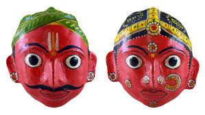 halloween paper mache masks papier mache couple mask from andhra pradesh 5 5 x 5 x 2 inches