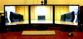 Three Monitor Desk How Does Feel Like To Code In A Triple Monitor Setup U2013 Sarin Na