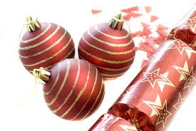 Christmas Cutout Decorations Photo Of Red Christmas Baubles On White Free Christmas Images