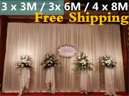 wedding backdrop taobao white wedding backdrop decoration 3m high by 6m wide 10feet by