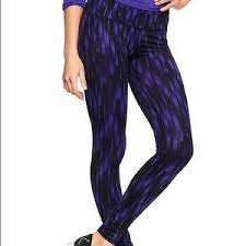gap patterned leggings 84 off gap pants gap fit purple patterned leggings running tights