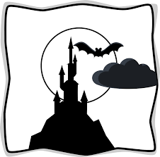 spooky clip art moon black and white moon clip art black and white free clipart