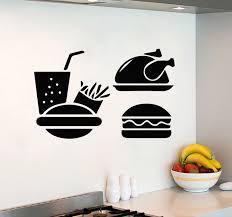stickers cuisine enfant enfants chambre stickers muraux rapide alimentaire hamburger