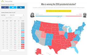 Electoral College Maps 2016 Projections Amp Predictions by Us Interactive Electoral Map