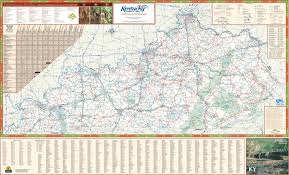 State Map Of Tennessee by Large Detailed Map Of Kentucky With Cities And Towns