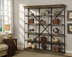 Iron And Wood Bookcase Bookcases Redbarn Furniture
