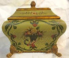 Yellow Decorative Box French Country Décor Boxes Jars U0026 Tins With Lid Ebay