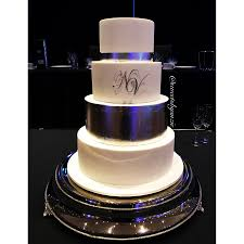 silver leaf wedding cake made by sweetsbysuzie in melbourne