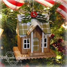 up on tippy toes winter cottage ornament