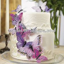 Purple Butterfly Decorations Wedding White Gilliter Butterfly Decorations Buy Wedding