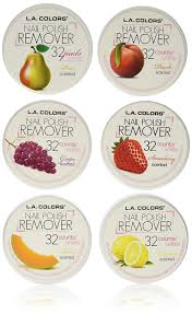 amazon com la colors nail polish remover pads acetone free