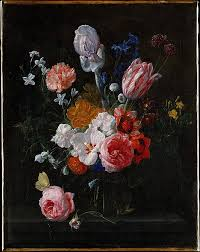 Bouquet Of Flowers In Vase Nicolaes Van Veerendael A Bouquet Of Flowers In A Crystal Vase