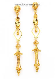 gold earrings for gold earrings for women in 22 k gold 235 ger7208 in 4 800 grams