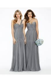 silver bridesmaid dresses a line tulle silver bridesmaid dress bd1187 buy