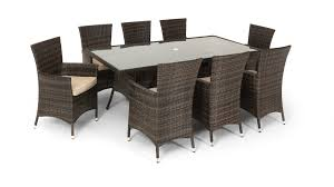 8 Seater Dining Tables And Chairs Rattan Garden Dining Set Large 8 Seater Dining Table 8 Arm