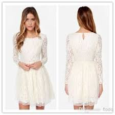 white lace dress with sleeves knee length white floral lace dress floral lace dress and floral lace