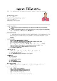 career objective in resume for civil engineer ramendu cv for bd
