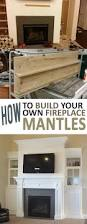 how to build your own fireplace mantel