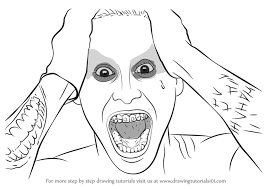 tutorial gambar joker step by step how to draw jared leto as the joker from suicide squad