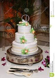 Wedding Cake Flowers Three Tier Wedding Cake With Flowers Royalty Free Stock Images