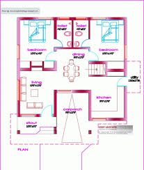 Kerala House Single Floor Plans With Elevations Incredible Below 1000 Square Feet House Plan And Elevation