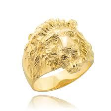 mens gold ring men s solid gold lion ring large lion rings