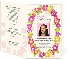 order of service template free printable memorial service programs