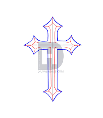 how to draw a cross tattoo step by step drawing guide by