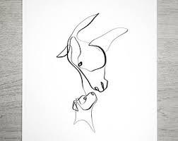 horse art etsy
