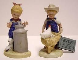 home interiors figurines 2 homco home interior figurines denim days mornging chores 1501
