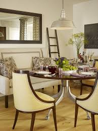 how to warm up a dining room with textiles