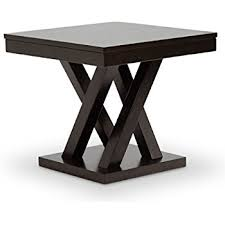 Modern End Tables Baxton Studio Everdon Modern End Table Brown