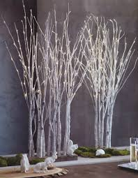 lighted birch trees lighted birch tree forest tree forest