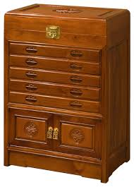 Asian Style File Cabinet Chinese Style Rosewood Silverware Or Flatware Chest Asian