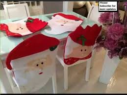santa chair covers christmas dining chair covers diy decoration picture ideas for
